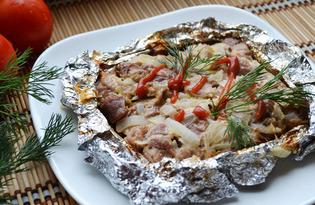 Мясо запеченное в фольге кусочками (пошаговый фото рецепт)