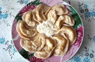 Капустные пельмени с салом (пошаговый фото рецепт)
