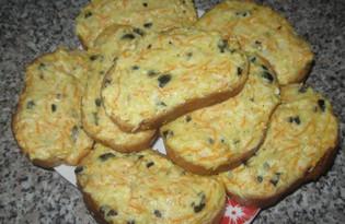 Хрустящие бутерброды с маслинами (пошаговый фото рецепт)