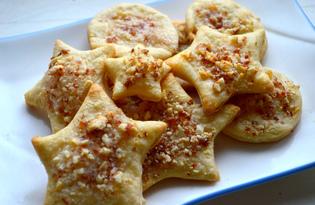 Ореховое печенье из слоеного теста (пошаговый фото рецепт)