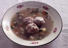 Овощной суп с тефтелями (пошаговый фото рецепт)