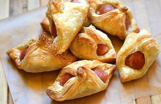 Соленое печенье с сосиской (пошаговый фото рецепт)