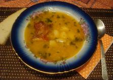 Гороховый суп с куриными копченостями (пошаговый фото рецепт)
