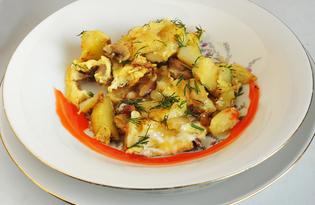 Картофельно - грибная запеканка (пошаговый фото рецепт)