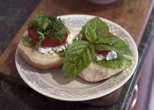 Летний сэндвич (пошаговый фото рецепт)