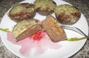 Кексы из куриной печени с начинкой из моркови и лука (пошаговый фото рецепт)
