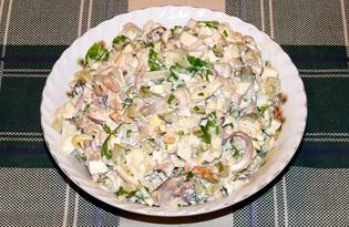 Салат из морепродуктов с яйцом (пошаговый фото рецепт)