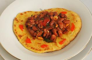 Фасоль в томате тушеная на сковороде (пошаговый фото рецепт)