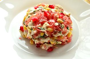 Салат с курицей, гранатом и грейпфрутом (пошаговый фото рецепт)