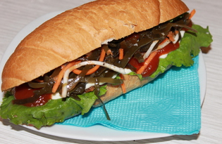 Гамбургер с говяжьей котлетой (пошаговый фото рецепт)