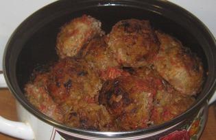 Котлеты с фаршем и капустой в духовке  (пошаговый фото рецепт)