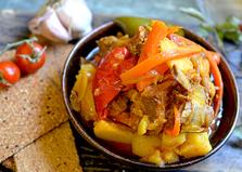 Баранина тушеная с овощами (пошаговый фото рецепт)