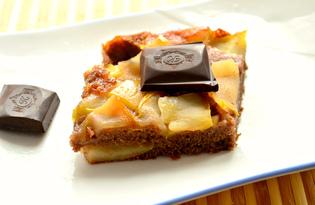 Шоколадный манник с яблоками (пошаговый фото рецепт)