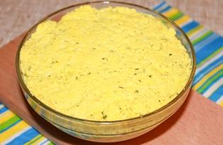 Домашний твердый плавленный сыр с куркумой (пошаговый фото рецепт)