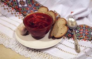 Постный борщ с фасолью (пошаговый фото рецепт)
