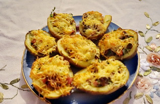 Картофельные лодочки (пошаговый фото рецепт)