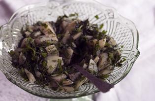Картофельный зелёный салат с заправкой (пошаговый фото рецепт)