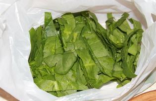 Замарозка шпината на зиму (пошаговый фото рецепт)