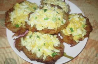 Драники с яйцом и сыром (пошаговый фото рецепт)