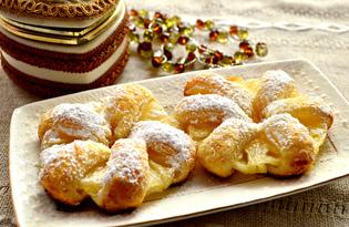Слойки с ананасами (пошаговый фото рецепт)