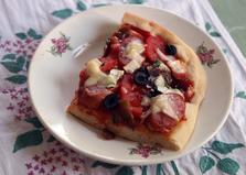 Пицца с копченостями (пошаговый фото рецепт)