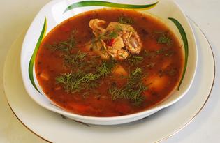 Румынский чесночный суп с курицей (пошаговый фото рецепт)