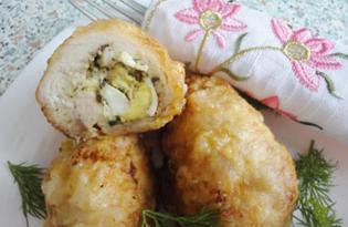Куриное филе фаршированное перепелиными яйцами (пошаговый фото рецепт)