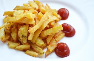 Картошка-фри в казане (пошаговый фото рецепт)