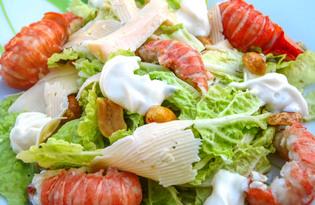 Салат с раковыми шейками (пошаговый фото рецепт)