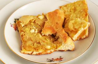 Пирог из дрожжевого теста с капустой и яйцами (пошаговый фото рецепт)