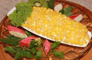 Салат с киви и крабовыми палочками (пошаговый фото рецепт)