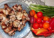 Шашлык из свинины на кефире (пошаговый фото рецепт)