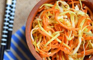 Капуста с приправами по-корейски  (пошаговый фото рецепт)