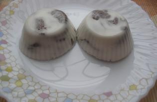 Желе со сметаной и какао (пошаговый фото рецепт)