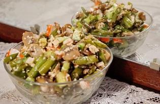 Салат со стручковой фасолью и крабовыми палочками (пошаговый фото рецепт)