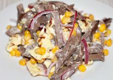 """Салат со свиным сердцем """"Завтрак шахтера"""" (пошаговый фото рецепт)"""