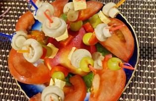 Канапе с оливкой и сыром (пошаговый фото рецепт)