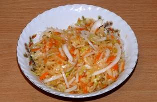 Капуста квашеная острая (пошаговый фото рецепт)