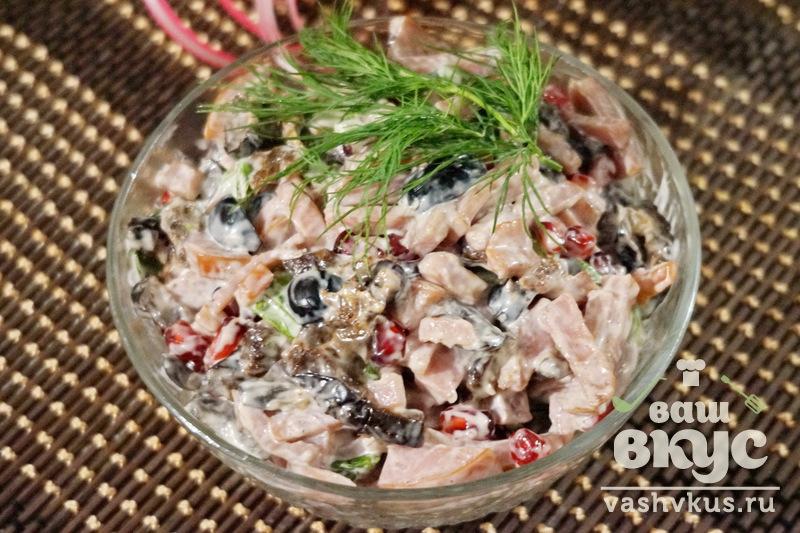 Салаты с ветчиной рецепт с пошаговым