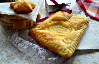 Сырные слойки и печенье (пошаговый фото рецепт)