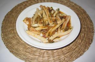 Кальмары тушеные с луком (пошаговый фото рецепт)