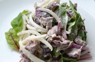 Закуска из салатных листьев с грудинкой (пошаговый фото рецепт)