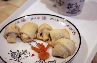 Пальчики с орехово - яблочной начинкой (пошаговый фото рецепт)