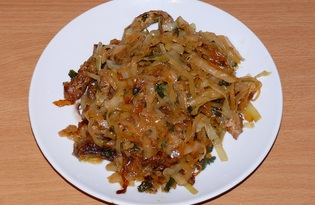 Жареная свинина с капустой (пошаговый фото рецепт)