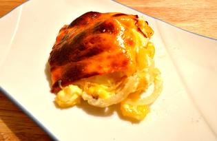 Картофель под сыром в духовке (пошаговый фото рецепт)
