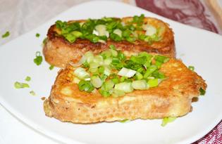 Сырные гренки с зеленым луком (пошаговый фото рецепт)