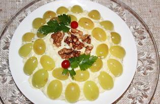 """Салат с курицей и виноградом """"Тиффани"""" (пошаговый фото рецепт)"""