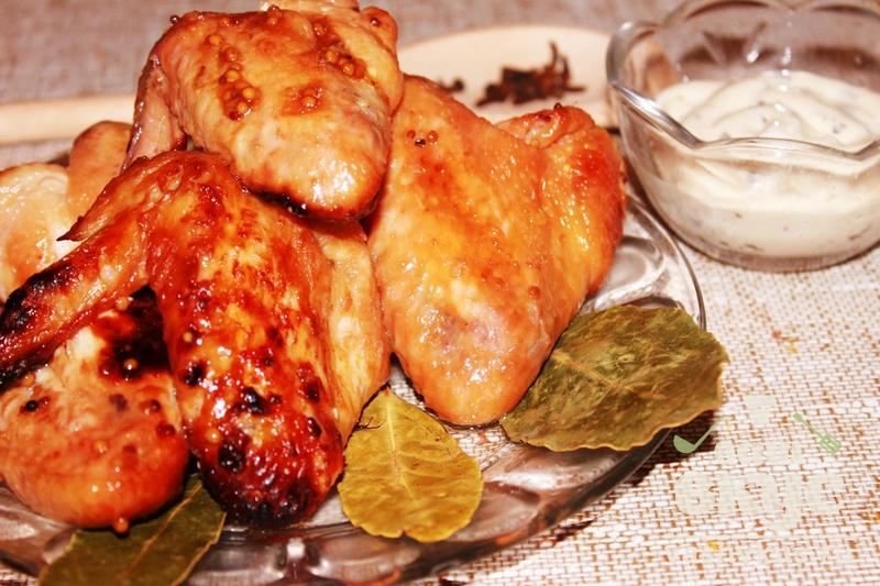 курица с французской горчицей в духовке