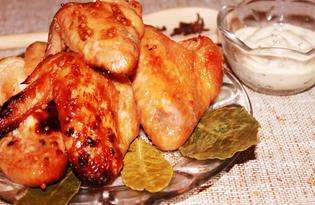 Куриные крылышки с горчицей в зернах (пошаговый фото рецепт)