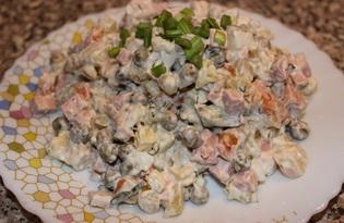 Оливье с курицей и сыром (пошаговый фото рецепт)